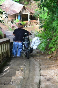 Parts of the path are steep