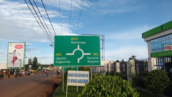 Sign to Tanzania and Uganda